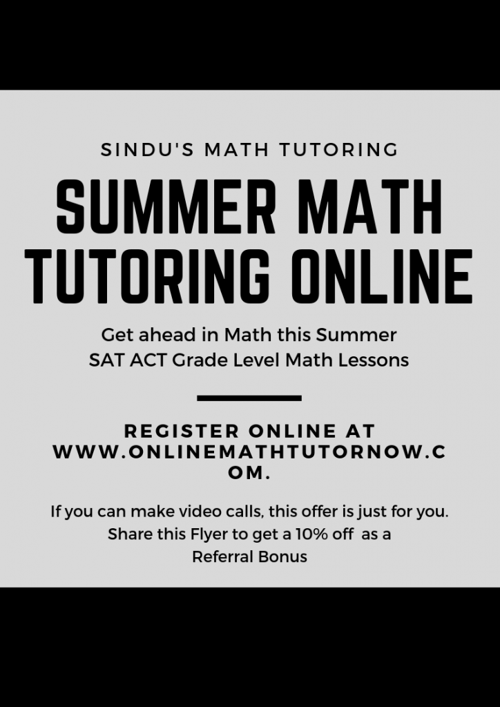 Summer Math Tutoring Program